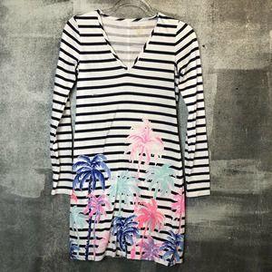 Lilly Pulitzer Dress Beacon Desert Palm Stripes
